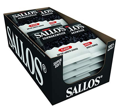 SALLOS Schwarzweich Klassik Soft Lakritz Genuss, 200g (20er Pack)