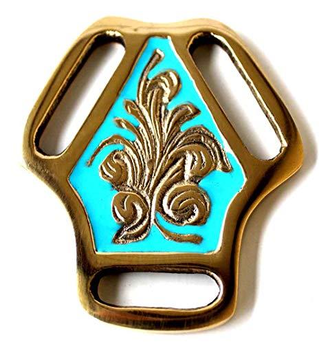 PRORIDER Horse Tack Brass Bridle Breast Collar Martingale Center 5820