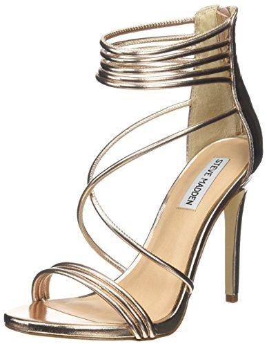 Steve Madden Footwear Answer, Sandali con Cinturino alla Caviglia Donna, Rosa (Rose Gold), 40 EU