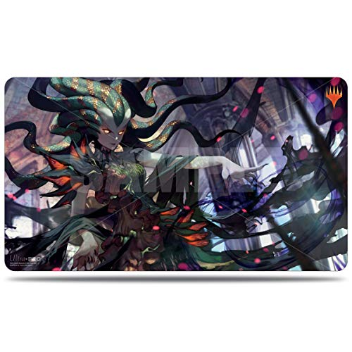 MTG War of The Spark Japanese Alternative Art Vraska Swarms Eminence Ultra Pro Printed Art Magic The Gathering Card Game Playmat