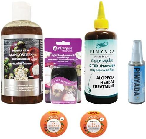 Extra Set Mama Mangosteen Peel Herbal Fees free!! Ve Shampoo Aloe with 270ml Max 69% OFF