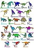 JAAC Street ABC Dinosaurier-Poster für Kinderzimmer, 350