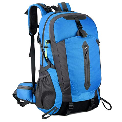 Heqianqian Mochila de camping 50 L resistente al agua para senderismo, mochila de viaje (tamaño: tamaño libre; color: azul)
