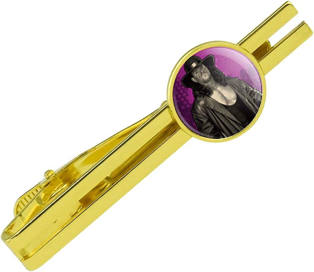GRAPHICS & MORE WWE Undertaker Deadman Round Tie Bar Clip Clasp Tack Gold Color Plated