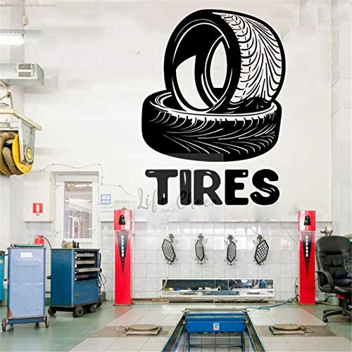 Tianpengyuanshuai Automechaniker Logo Muursticker Autobanden Reparatie Logo Wand Vinyl sticker