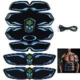 BEIAKE EMS Muscular Eléctrica con Exhibición De Los Deportes De La Aptitud Portátiles Equipos LCD Ocho Pegatinas De Músculos Abdominales para Hombres Y Mujeres Adultos