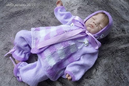 Knitting Pattern - KP174 - Baby Pram Set - 0-3mths,3-6 mths,6-9mths,9-12mths (English Edition)