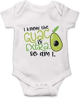 i know guac is extra onesie
