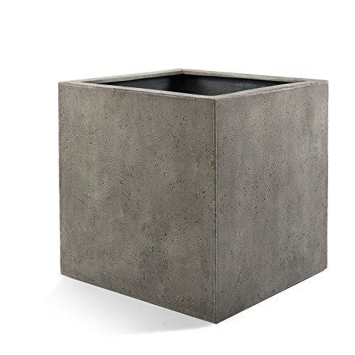 Luca Lifestyle Pflanzkübel Grigio Cube Grau Quadratisch Fiberglas *5 Jahre Garantie* - 30x30x30cm - F194