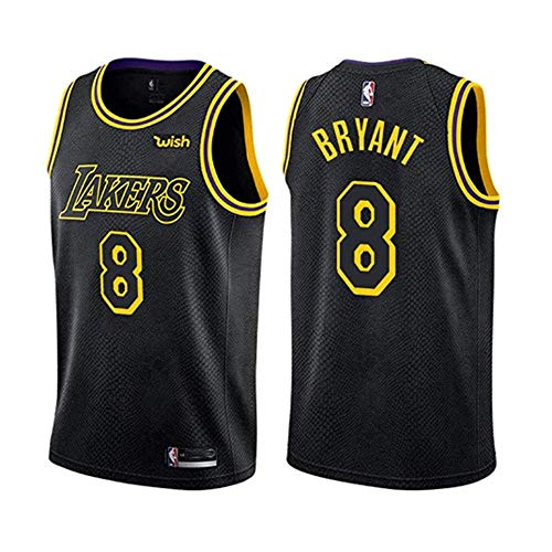 LinkLvoe NBA Jersey Jersey Lakers # 24#8 KobeBryant Retro Basketball Summer Jersey,Abbigliamento Sportivo Senza Maniche, Fan Jersey, Abbigliamento Sportivo Traspirante Kobe Fans, da Non Perdere S-XXL
