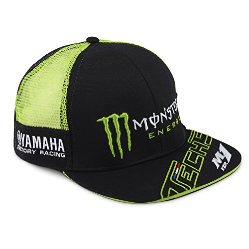 Monster Tech3 18T3M-GREEN-FP - Gorra para Hombre, Color Negro y Verde