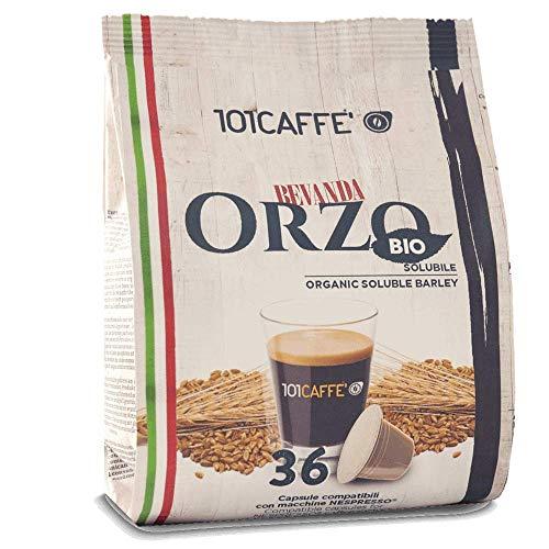 101CAFFE' Orzo BIO 36 capsule   Sacchetto da: 36 capsule compatibile con Nespresso�
