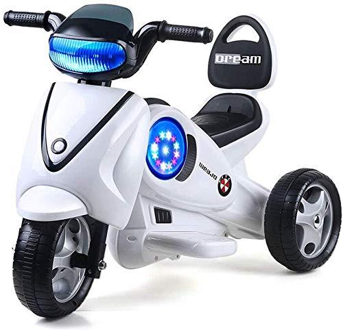 FEE-ZC Kinderfiets voor kinderen, motorfiets met 3 wielen, elektrische fiets, driewieler voor kinderen, 2-10 jaar, 6 V, 3 km/h