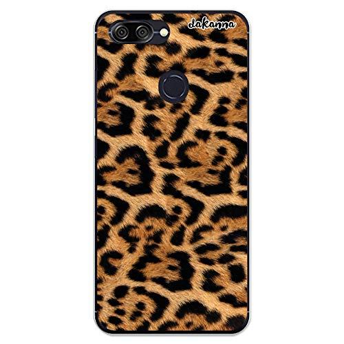 dakanna Custodia Compatibili con [ASUS Zenfone Max Plus ZB570TL] Trasparente con Disegni [Stampa Pelle di Leopardo] in Morbida Silicone TPU Flessibile, Shell Case Cover in Gel per Smartphone