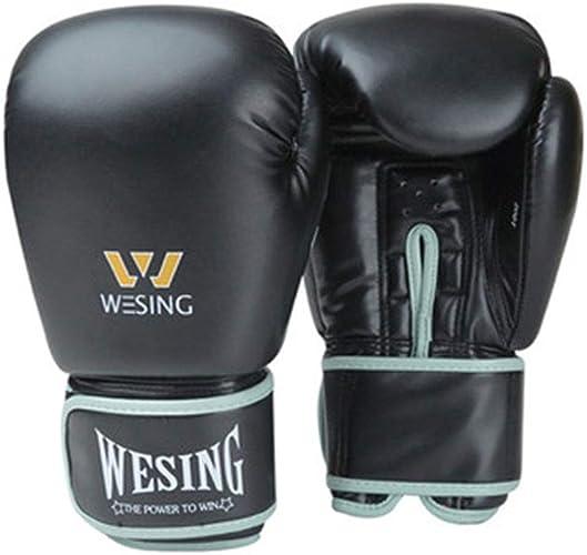 Gant de Boxe Se battant Prougeecteur de Main Adultes Femmes Hommes & Enfants Gants de Kickboxing Muay Thai Box Mitts EquipeHommests,A,12OZ