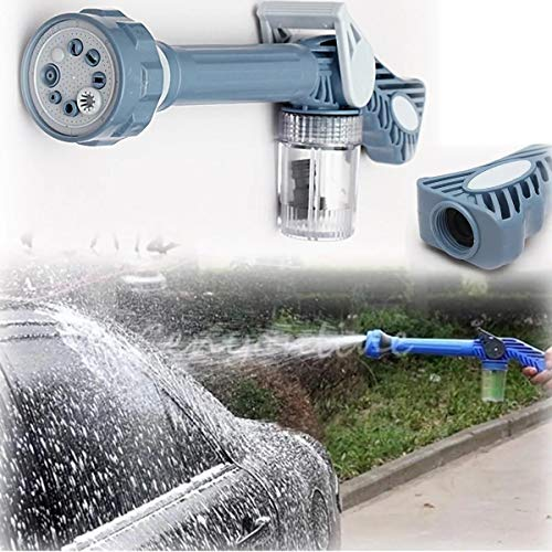Liuxiaomiao hogedruk waterpistool waterspuit pistool pomp wasmachine auto wassen water schoonmaken tuin zeep spuitpistool 8 mondstuk voor auto & huisdier wassen/besproeien gazon en tuin
