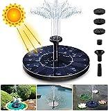 APSONAR Solare Fontana Pompa, 1.4W Solare Pompe Laghetto Acqua con 4 Effetti Pompa ad Acqua Solare per Bagno di Uccelli, Piccolo Stagno, Giardino Piscina(B-1)