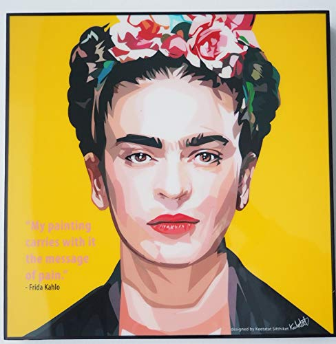 Glagoods Frida Kahlo Pop Art - Lienzo decorativo para pared, diseno con cita de Frida Kahlo