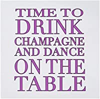 EvaDane – 面白い引用 – Time to Drink Champagne and Dance On The Table、ホットピンク – グリーティングカード Set of 12 Greeting Cards