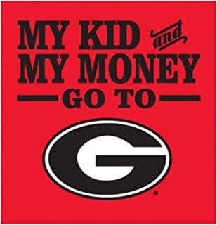 Jay Mac Sports UGA My Kid and My Money Can Coozie Red