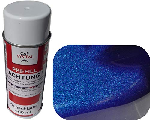Spraydose 400ml 1K Autolack Nacht Blau Metallic Glanz kein Klarlack Tuning Trend