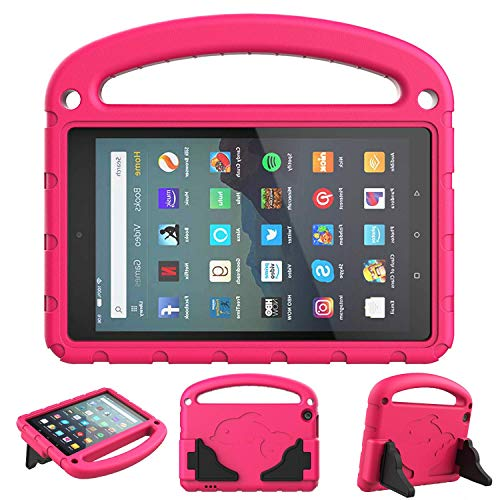 SUPWANT Kids Case for All-New Fire 7 2019 - Kid-Proof Light Weight Protective Case with Handle Convertible Stand for Amazon Fire 7 Tablet (9th Generation - 2019 Release), Blue