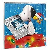 wenhe Snoopy Kinder Cartoon Thema Duschvorhang Lustige wasserdichte Badezimmer Duschvorhänge - für die Inneneinrichtung Badezimmer & Badewannen - mit 12 Kunststoffhaken