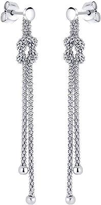 SILVEGO - GV06167E - Pendientes para Mujer de Plata 925 Cadenas con Bolas