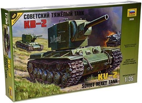Zvezda 500783608 - 1:35 WWII Russischer Panzer KV-2 Gigant