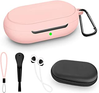 WQNIDE Protective Case for Samsung Galaxy Buds/Plus +, Accessories Set Silicone Cover, Anti Shock with /Keychain/Anti-Lost...