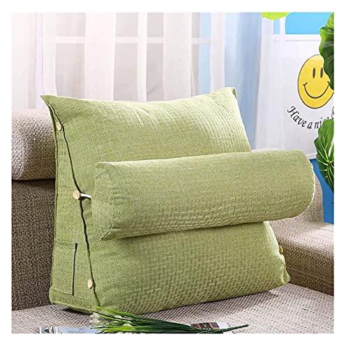 Almohadas de lectura Atrás Cojín Cama / Sofá con rodillo de cuello extraíble y bolsillo lateral, almohada de soporte trasero con almohada de cuello, cubierta lavable, almohada de lectura, cojín de lib