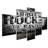 islandburner Cuadro Cuadros Grunge Room con texto de estilo rockero Genial y muy bonito FOY