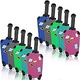 Kofferanhänger, 10 Stück Reise Gepäckanhänger Luggage Tag Bunte Koffer Tags aus Silikon zu Vermeiden Sie Gepäckverlust
