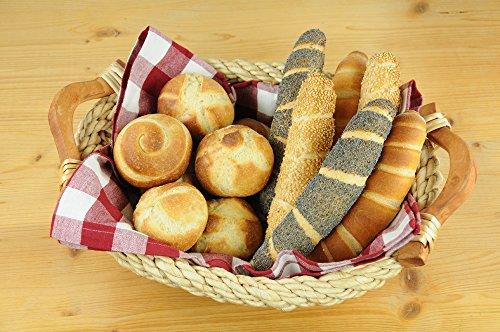 Brot- und Brötchen-Backblech, optimale Hitzeverteilung, Standard-Größe, Aluminium, perforiert, 34 x 38 cm - 2