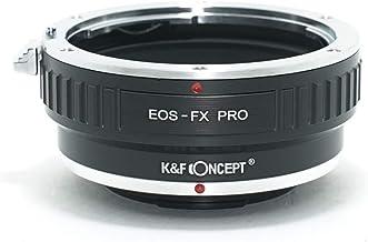 [正規代理店]K&F キャノン EOS EF(EF-S)レンズ-フジX FX マウントアダプター PRO レンズクロス付 ef-fx-pro (KFFXPRO)
