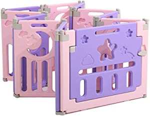 FCXBQ Purple parks four sizes infant kids foldable portable plastic fence for children barrier indoor playground indoor outdoor safety fence  size  1 1x1 5m