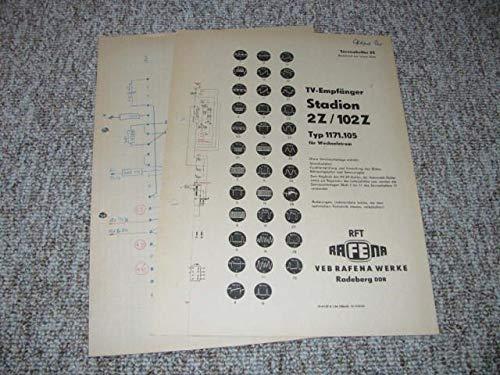 TV-Empfänger Stadion 2 Z / 102 Z - Typ 1171.105 für Wechselstrom (Servicehelfer 23)