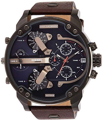 Preisvergleich Produktbild Diesel Herren-Uhren Analog Quarz One Size Leder 86523655