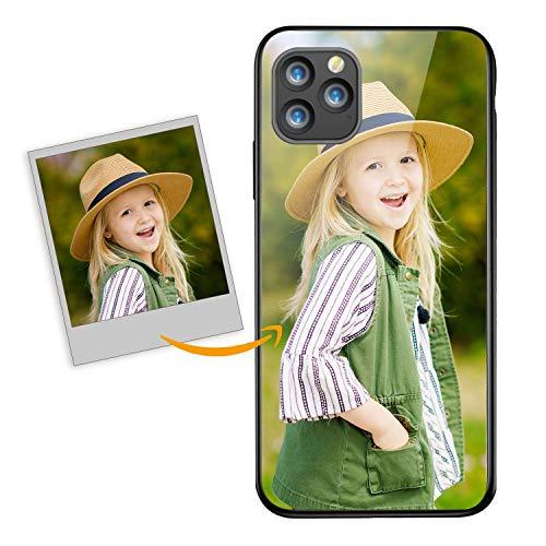 Oihxse Funda Personalizada Compatible con Samsung Galaxy A70/A70S Carcasa Vidrio Templado Rígido Protección Case Personablizable Foto Imagen Texto Estuche San Valentín,A1