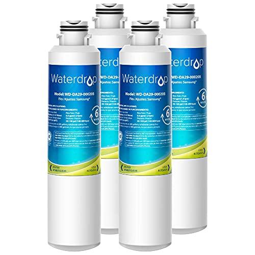 Waterdrop DA29-00020B Refrigerator Water Filter, Replacement for Samsung DA29-00020B, DA29-00020A, HAF-CIN/EXP, 46-9101, Standard, Pack of 4