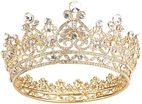 Makone Gold Crowns for Women Crowns and Tiaras Hair Accessories for Wedding Prom Bridal Party product image