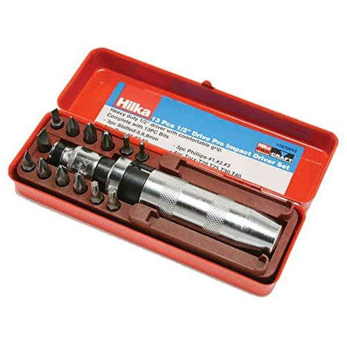 """Hilka 11670013 Destornillador impacto Kit Craft Pro 13 piezas 1/2"""""""
