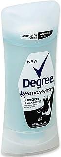 Degree MotionSense UltraClear Black+White Antiperspirant Deodorant Stick, 2.6 oz (Pack of 6)