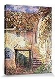 1art1 Claude Monet - Die Treppe, 1878 Poster Leinwandbild