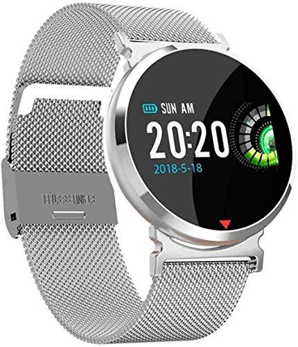 JSL Reloj inteligente resistente al agua, monitor de sueño de frecuencia cardíaca, presión arterial, reloj de mujer y hombre, pulsera inteligente para Android iOS