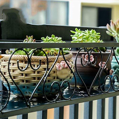 MJK Pflanzenständer, schmiedeeisernes Anti-Diebstahl-Fenstergitter, Wandmontage, Topfgestell mit Haken, dekoratives Regal für Innen- und Außenbalkon, platzsparender Blumentopfhalter für Pflanzen,30 *