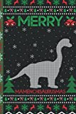 Ugly Mamenchisaurus Christmas Composition Notebook: Mamenchisaurus Lover Xmas Lighting Ugly Style Christmas Pajama Journals - Christmas Decoration Journal Notebook For Men, Women, Girls, Kids