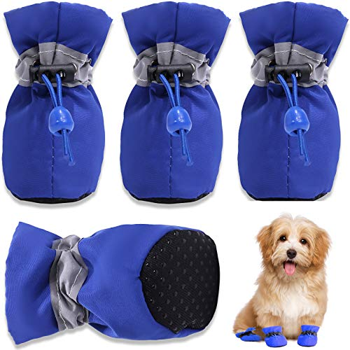 HOOLAVA Dog Shoes, Dog Boots Paw Protector with Reflective Straps, Non Slip Dog Booties for Small...