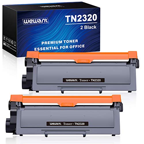 Wewant Toner TN 2320 Cartucce Toner Compatibile Brother TN2320 TN2310 per Brother MFC-L2700DW L2720DW L2740DW, Brother DCP-L2500D L2520DW L2540DW, Brother HL-L2300D L2340DW L2360DW L2380DW, 2 Nero