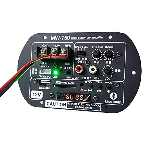 Andifany Subwoofer Amplificador Audio MicróFono Placa Amplificadores de Potencia Coche de Hogar 12V 220V